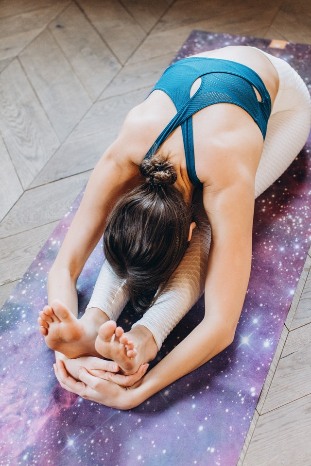 Woman doing a yoga
